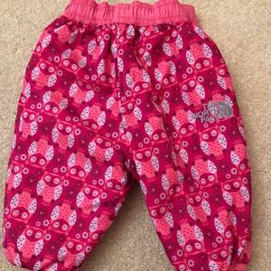 Reversible infant North Face snow pants